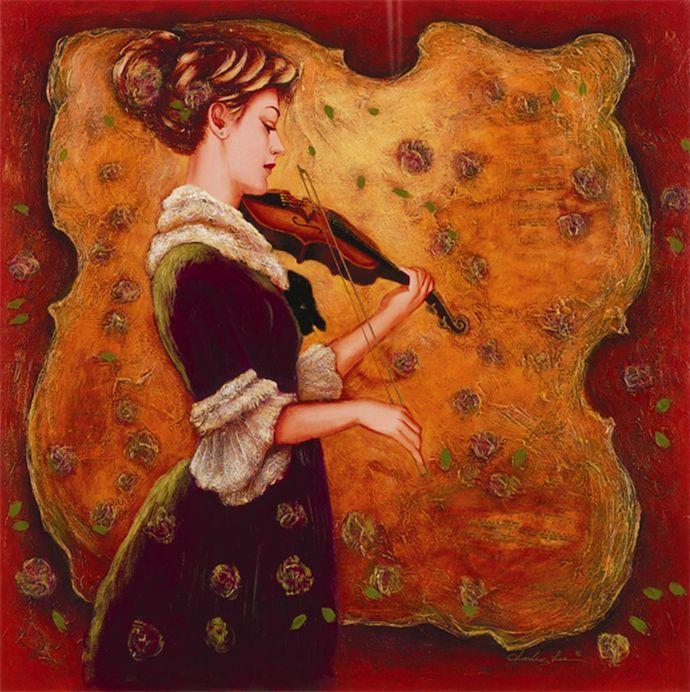 Serenade in Violet (2005) by Charles Lee  www.parkwestgallery.com #art #charleslee #parkwestgallery #marsala
