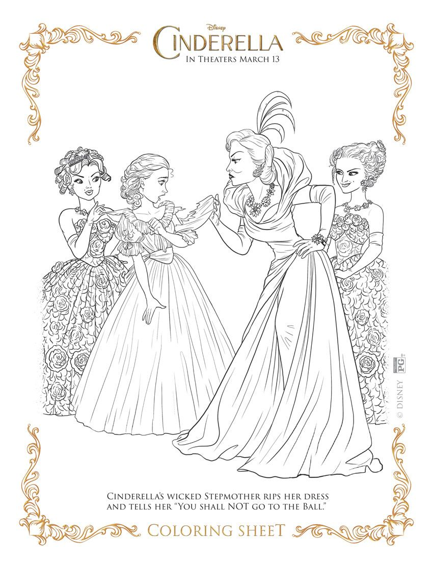 Free coloring pages cinderella - My Take On Cinderella Free Coloring Sheetsdisney