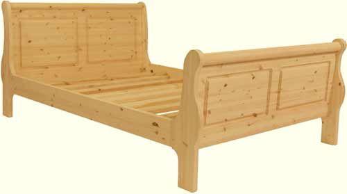 Handmade Pine Sleigh Bed Super Kingsize