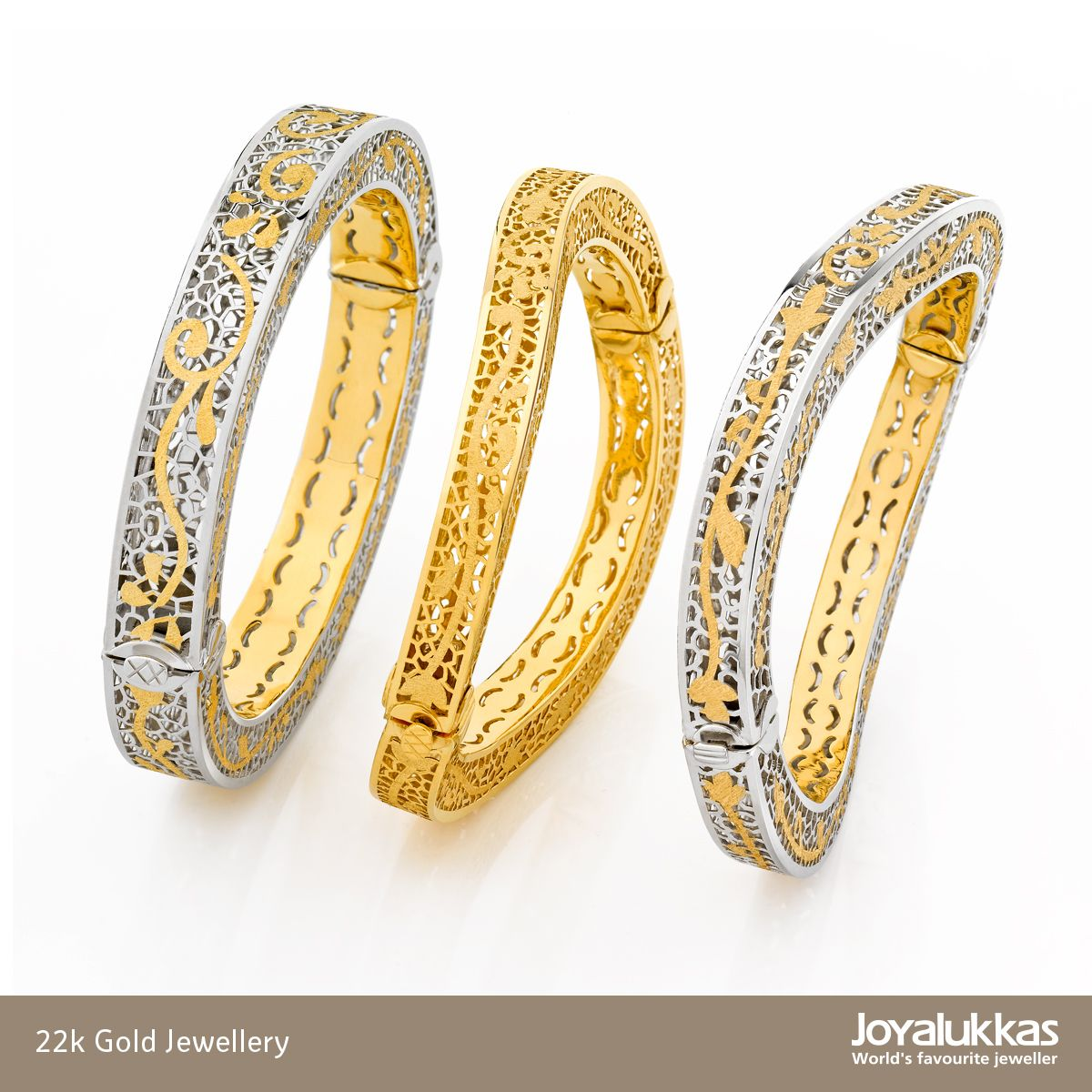 Gold Italy Platinum: 22k Gold Open Type Artform Bangles. Made In Italy
