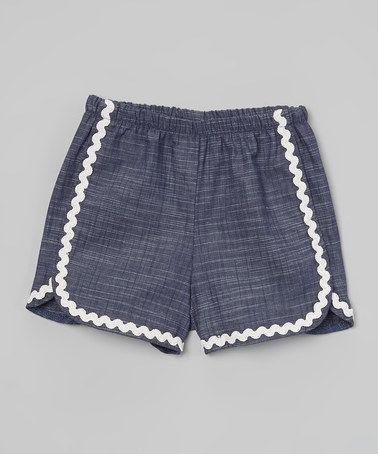 Denim Gidget Shorts - Infant, Toddler & Girls by Baby & Me Designs #zulily #zulilyfinds