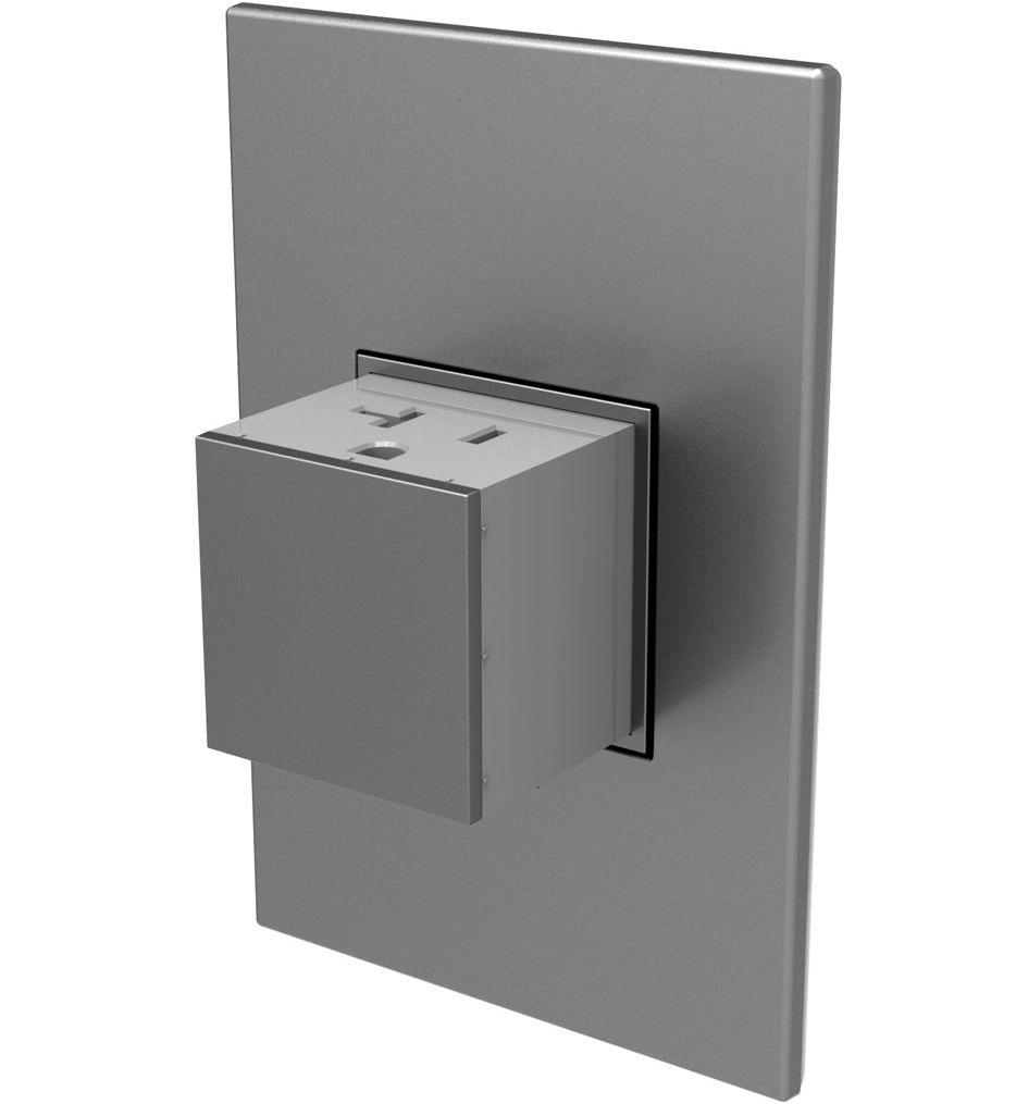 Legrand Adorne Arptr151gm2 Magnesium 1 Gang Pop Out Outlet In