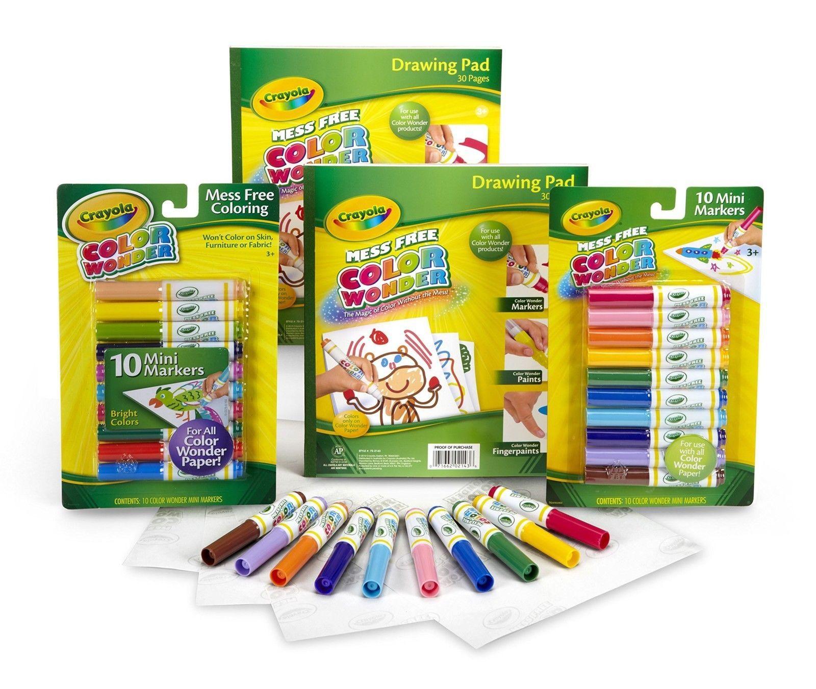 Craft Kits 116655: Crayola Color Wonder Mess Free Coloring Markers ...