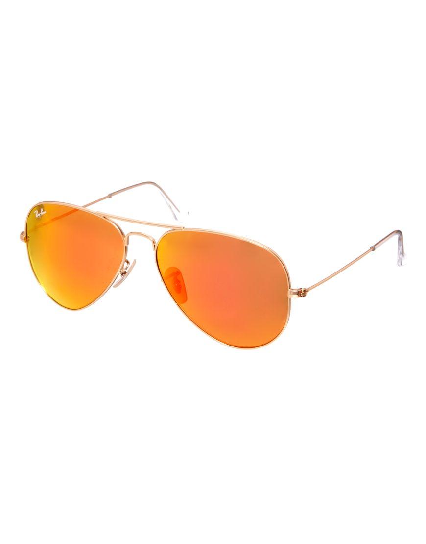059a8a00ae Gafas De Sol, Naranja, Ropa De Mujer, Lentes, Lentes Espejados Tipo Aviador