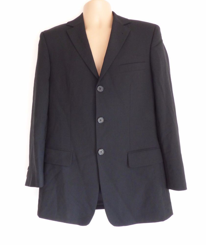 53ea101e8 Details about Gent's Vintage HUGO BOSS Fitted Tailored Stretch Black ...