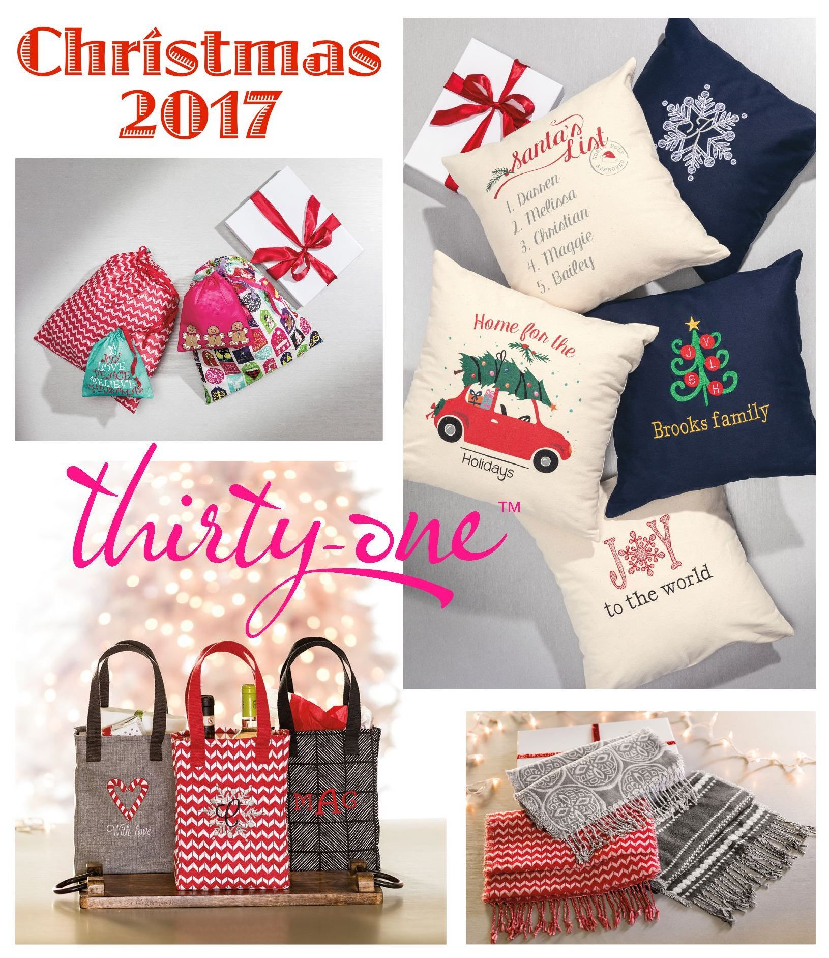 Thirty one november customer special 2014 - 2017 Thirty One Christmas Starts October 1st Medium Utility Tote In Hello