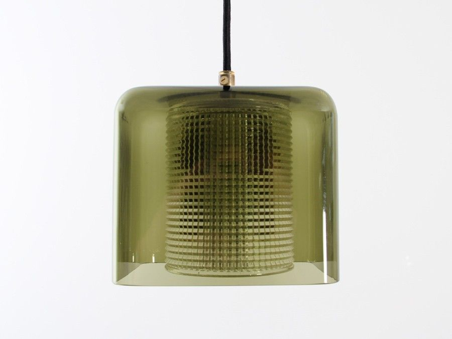 Mid-Century Modern Pendant Lamps by Carl Fagerlund for Orrefors, 1957
