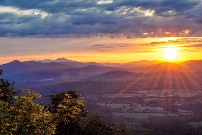 Sunrise At Roanoke Mountain Photo By Renee Riquelmy