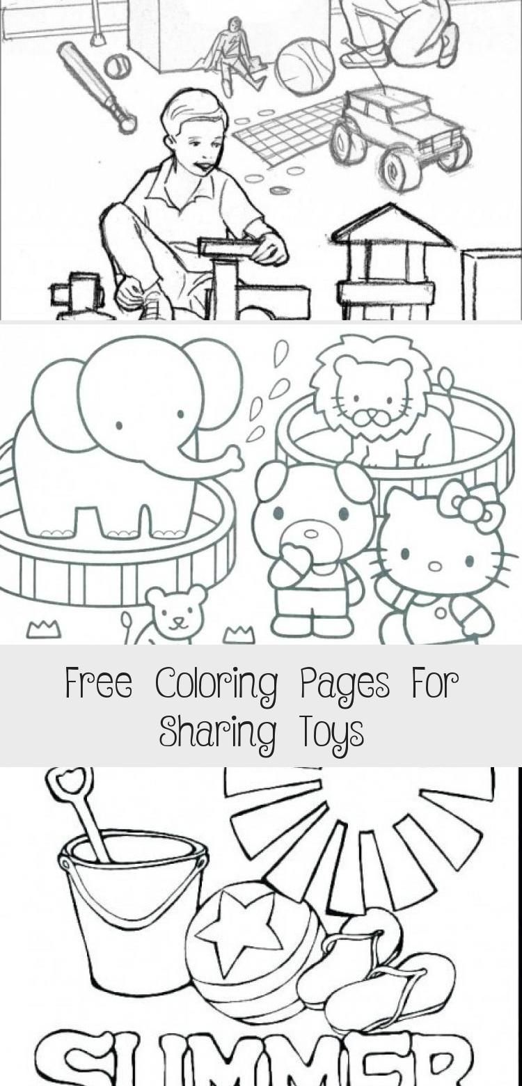 Free Coloring Pages For Sharing Toys With Images Free Coloring