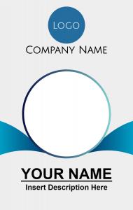 Id Card Company Potrait Contoh Kartu Nama Kartu Nama Desain Pamflet
