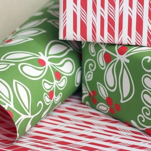 Mistletoe Gift Wrap Mistletoe, Christmas bags and Wraps