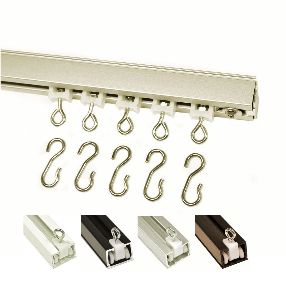 9600 Hand Draw Ceiling Mount Set Optional S Hooks Ceiling Curtain Track Ceiling Mount Curtain Rods Ceiling Curtains
