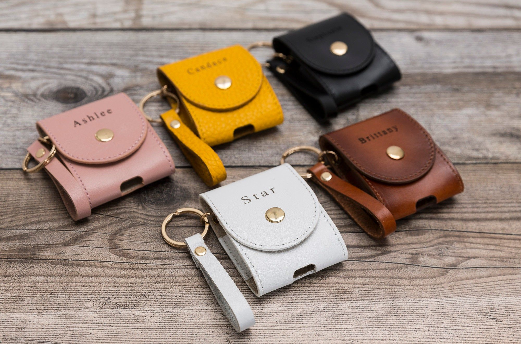Leather Airpods Case Custom Leather Case For Apple Airpods 1 Etsy Leather Case Airpod Case Earphone Case