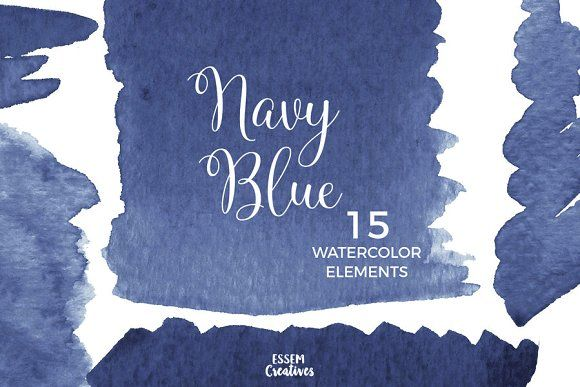 Navy Blue Watercolor Splash Clipart Watercolor Splash Clip Art