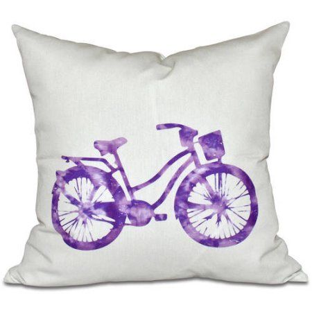 Simply Daisy 16 inch x 16 inch Life Cycle Geometric Print Pillow, Purple