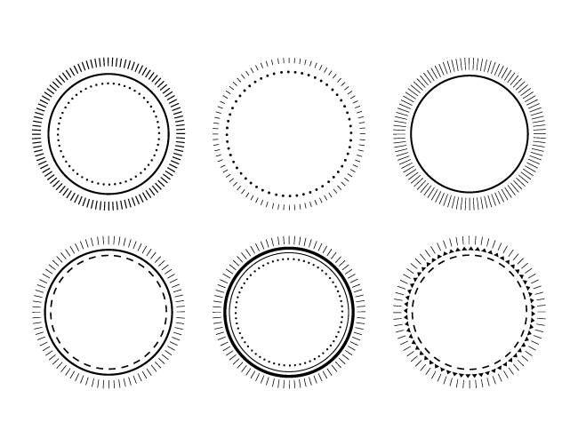 Notary Stamp Frame Set Png Svg Vector Clip Art Circle Dashed Etsy In 2021 Stamp Frame Clip Art Frame Set