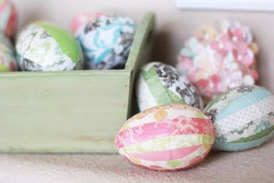 Decoupaged Eggs
