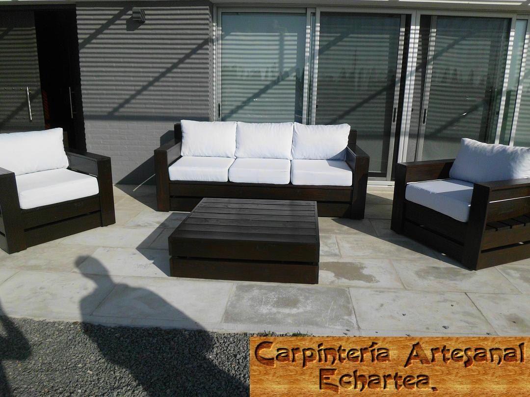 Mega sillones en madera interior o exterior for Muebles de jardin uruguay