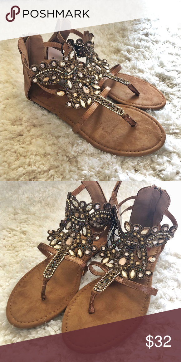 2be049345481d1 Muk Luks Athena Embellished Sandal These embellished sandals are sure to  add a statement to any