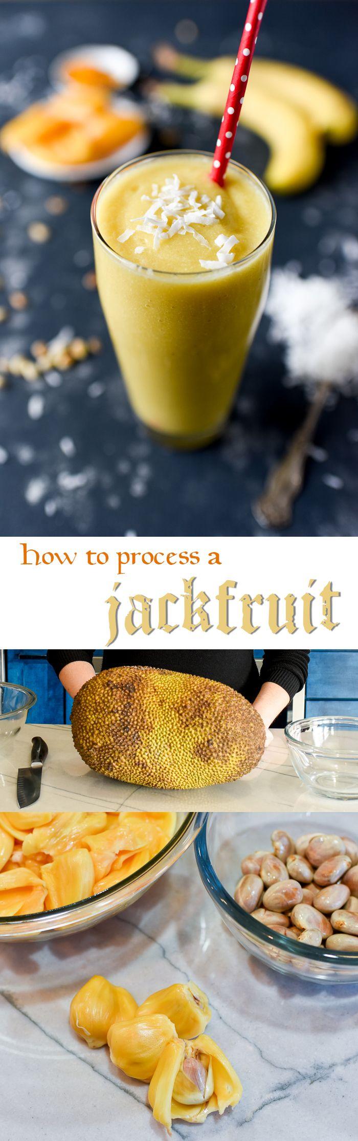 Fresh, Ripe Jackfruit Smoothie #fruitsmoothie