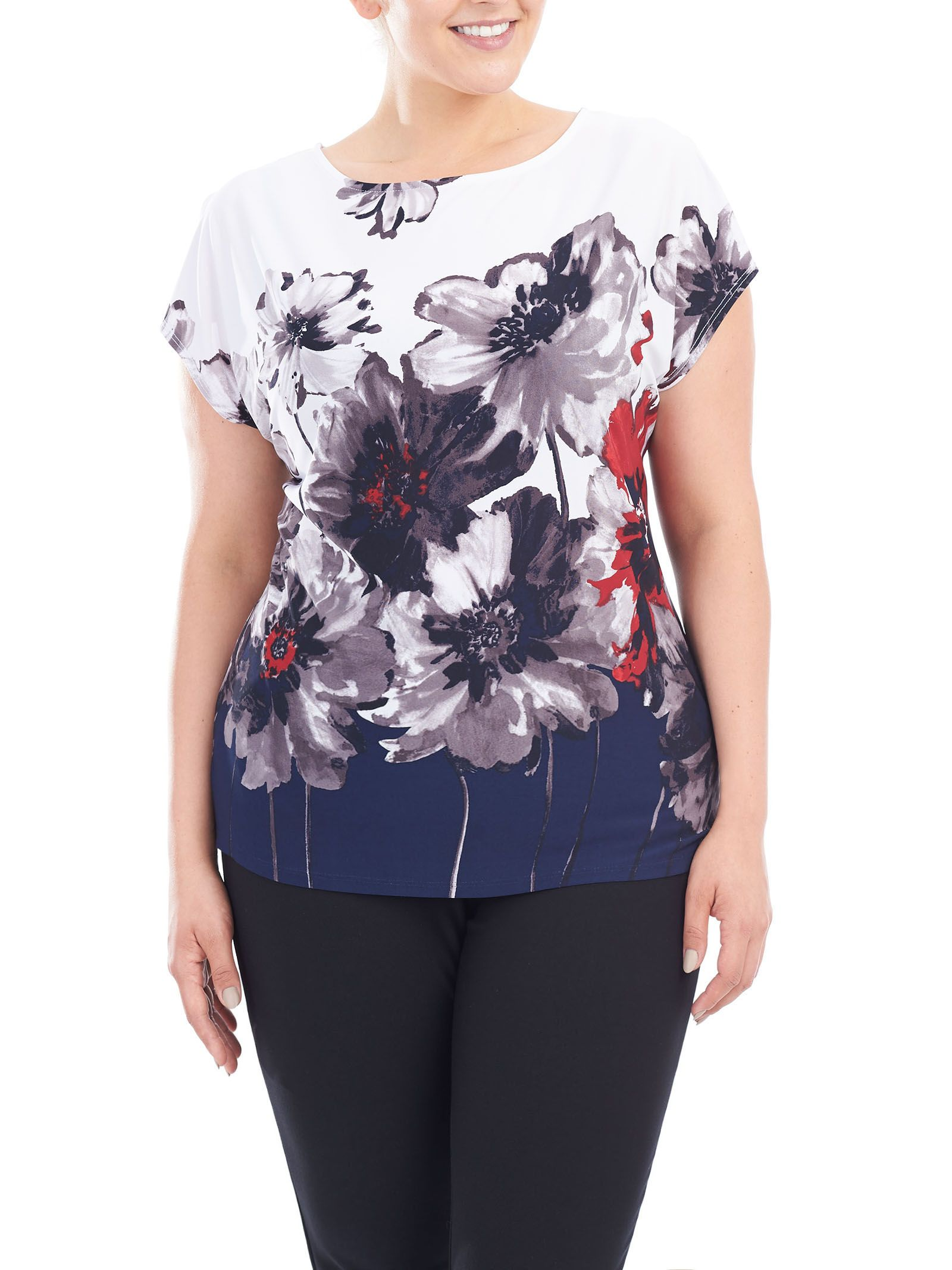 Laura Plus: for women size 14+. You'll love the classic floral print on our…