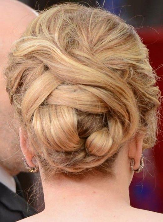 Bridal Hairstyles For Curly Hair -  Voluminous Bun