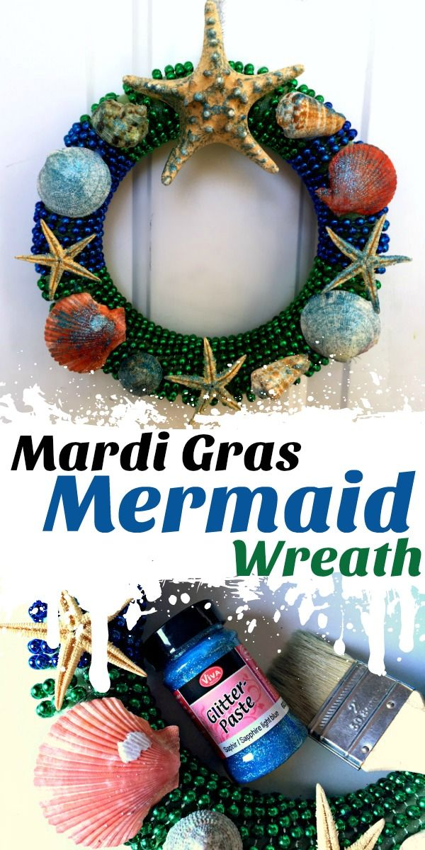 Dollar Store Crafts Mardi Gras Mermaid Wreath Arts and Crafts - dollar general christmas decorations