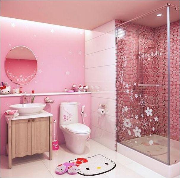 c3c09780f Hello Kitty Bathroom, Hello Kitty Rooms, Buy Bed, Bathroom Sets, Shower  Bathroom