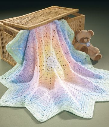 Peaceful Pastels Afghan- One of the patterns in the book -  The Best of Mary Maxim Baby Afghans , $9.99 (http://www.leisurearts.com/products/the-best-of-mary-maxim-baby-afghans.html)