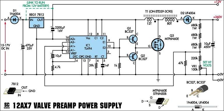 power supply schematic for 12ax7 preamp kit electrical engineering 12ax7 schematic power supply schematic for 12ax7 preamp kit power supply design, valve amplifier, vacuum tube