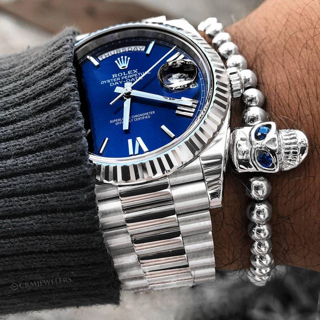 """좋아요 3,278개, 댓글 111개 - Instagram의 Luxury Watches(@crmjewelers)님: """"Rolex White gold  Day-Date 40mm $27,500 Get our free App (see bio)"""""""
