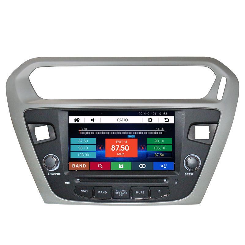 "8"" Car Radio DVD GPS Navigation Central Multimedia for Peugeot 301 2013 2014 2015 2016 SD Radio USB RDS Phonebook Bluetooth"