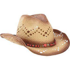 Women s Beaded Cowboy Straw Hat Walmart f746e990507b