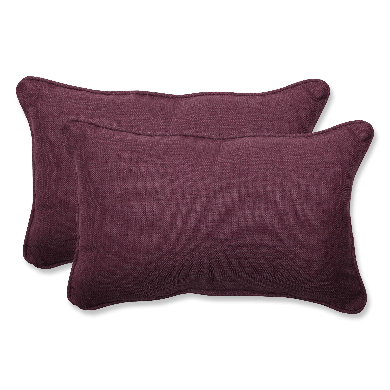 Pillow perfect outdoor purple rectangular throw pillow set of
