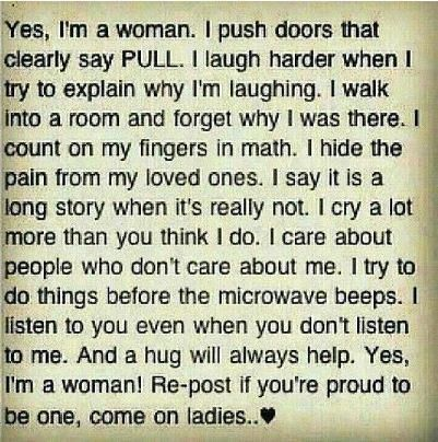 Yes Im A Woman