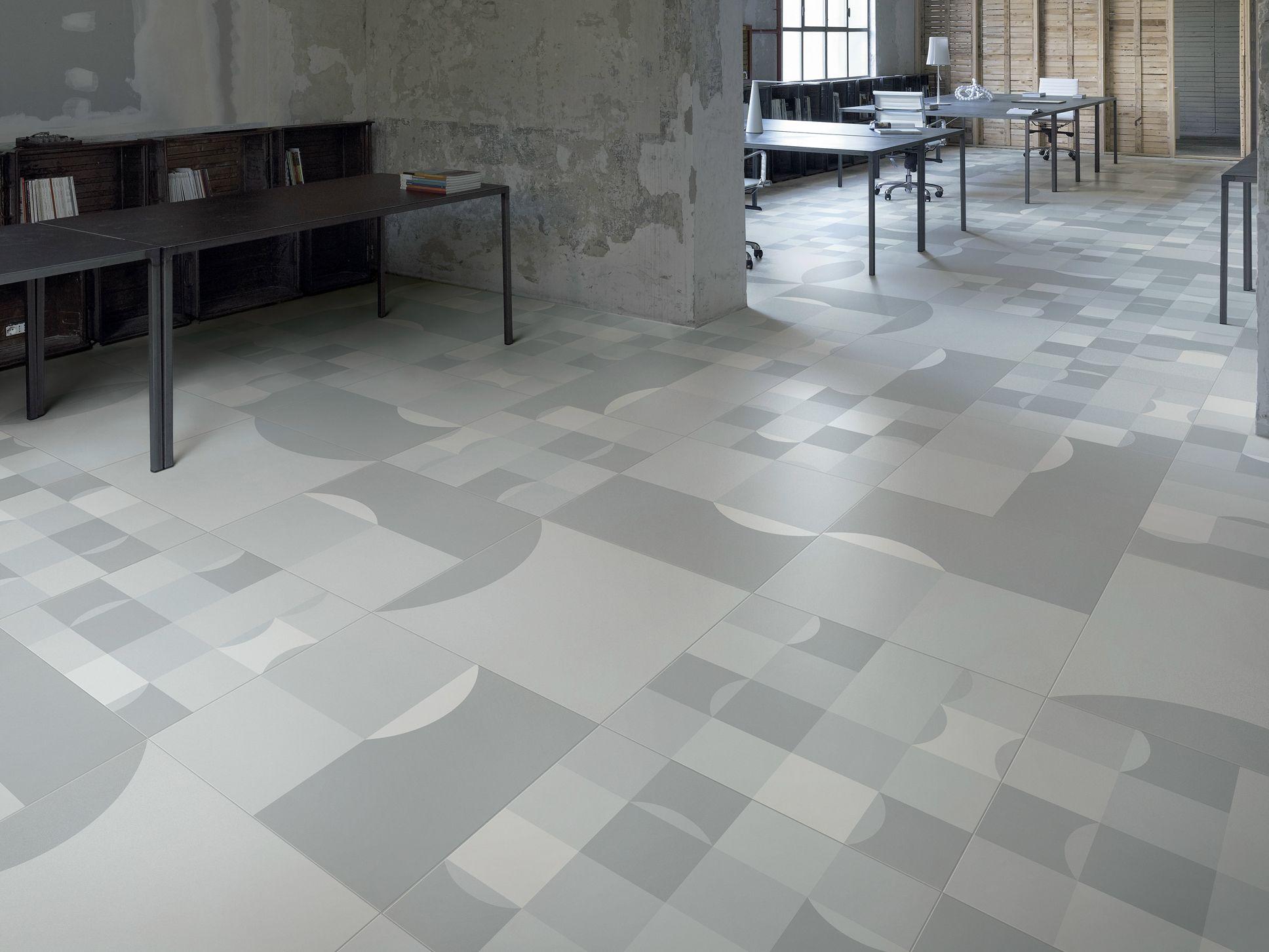 Pavimento in gres porcellanato square collezione frame by ceramiche