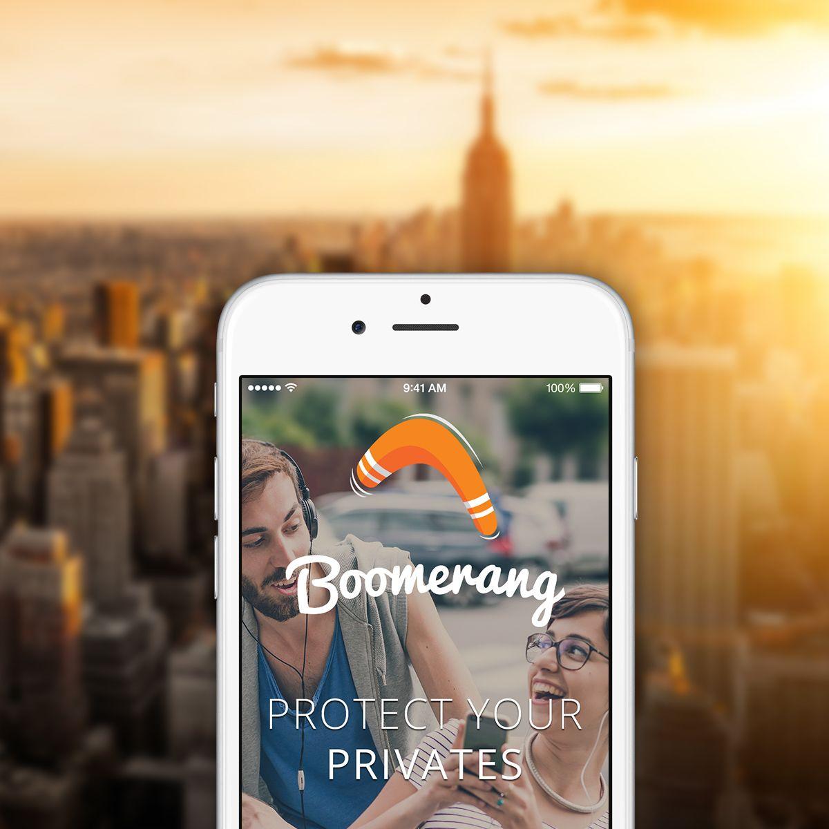 Boomerang Messenger App Mobile design, Design