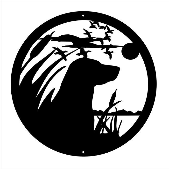 Bird Dog Silhouette Wall Art