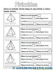 Resultado De Imagen Para Prismas Y Piramides Ejercicios Mat