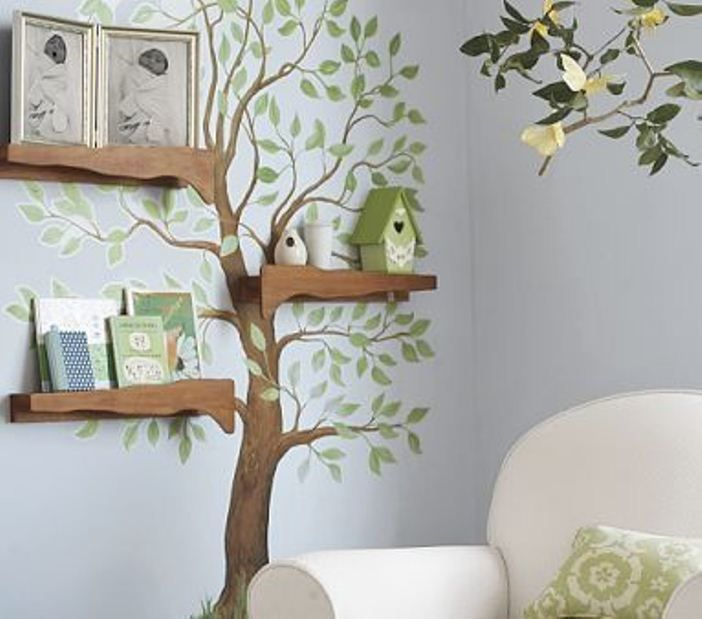 There Are Many Tree Wall Artworks, Wall Painting And Decorating Ideas  Available On The Market, From Creative And Unusual Tree Shaped Wall Shelves  T Part 36