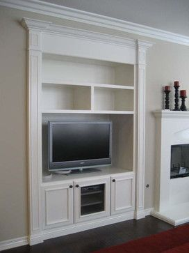 Like The Glass In This One As A Possibility Living Room Built In - Built in cabinets entertainment center design pictures remodel