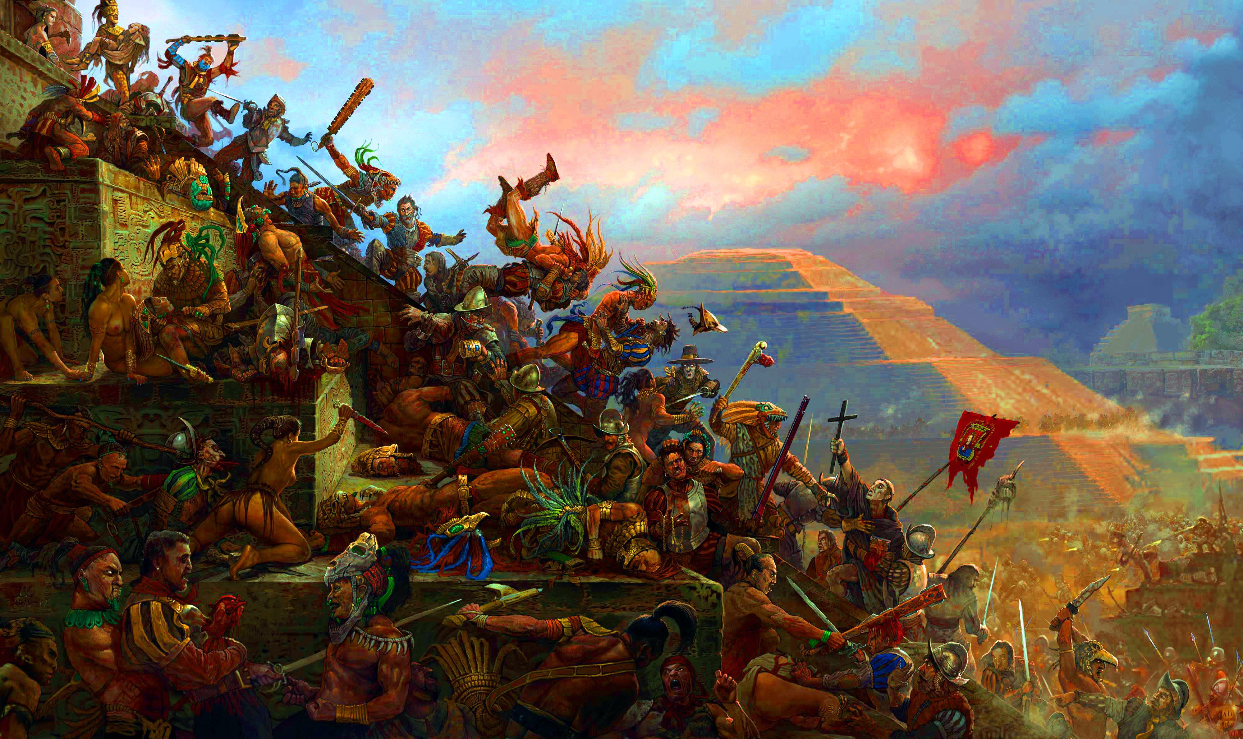 Blokade Tenochtitlán, Perang Penentu antara Dua Suku