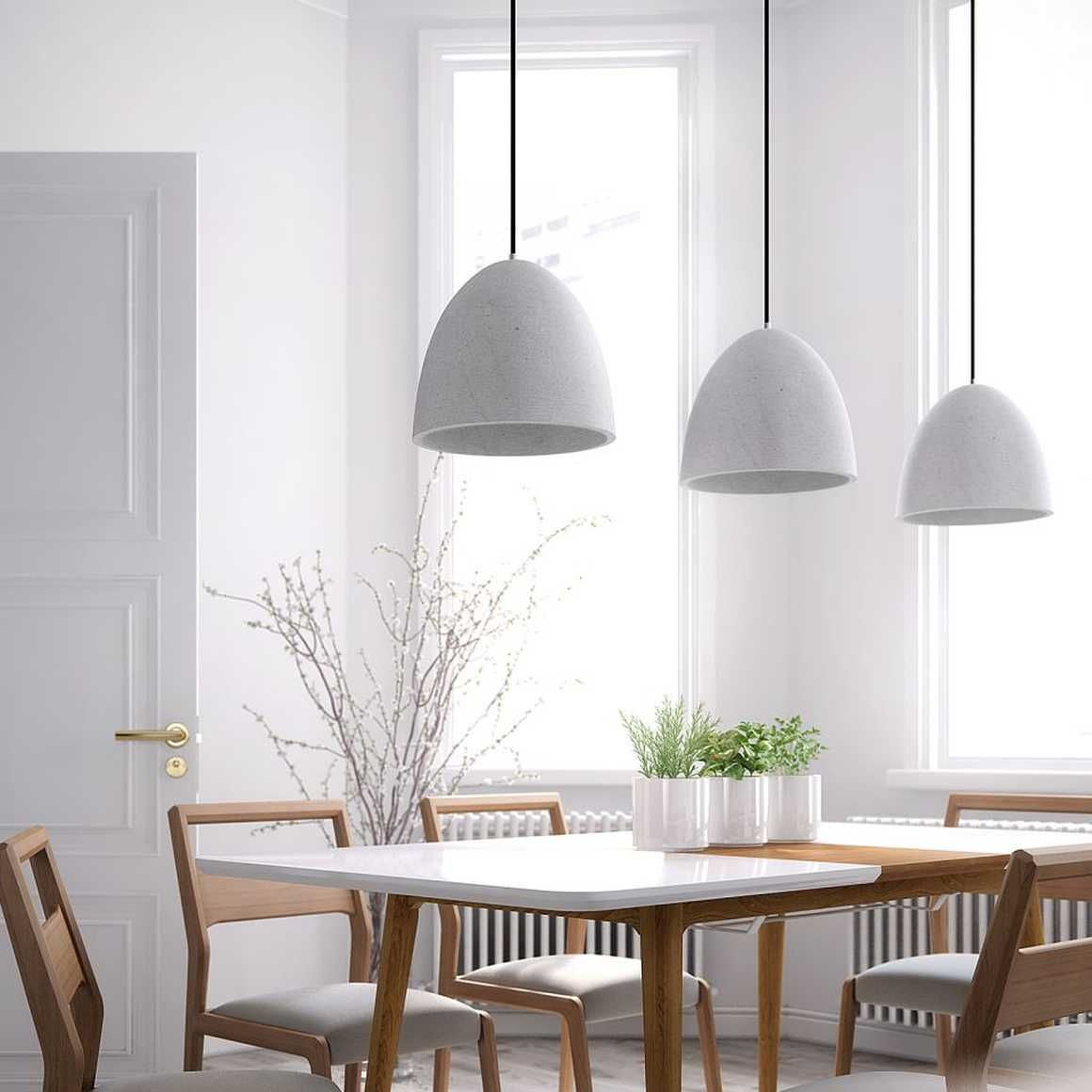 Modern Concrete Pendant Concrete Shade Rove Concepts Dining Room Lamps Dining Table Pendant Light Pendant Lighting Dining Room
