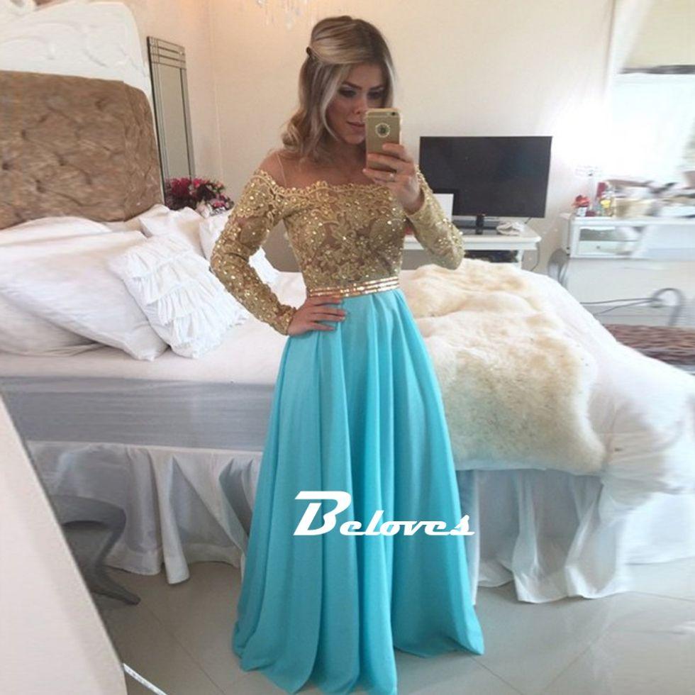 The Dress, Prom Dress, Gold Dress, Lace Dress, Off The Shoulder ...