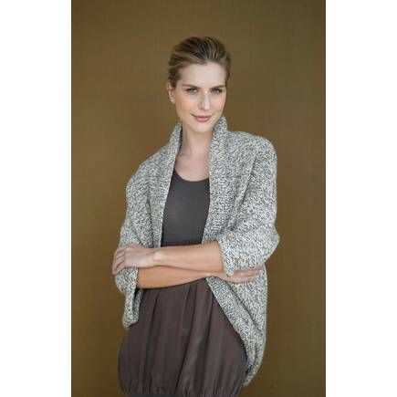 Free Pattern Lion Brand Fishermen\'s Wool Speckled Shrug 90690Ad ...