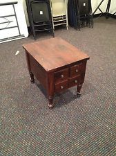 Ethan Allen Kling Colonial Dark Antiqued Pine Old Tavern End Table End Tables Antiques Tavern