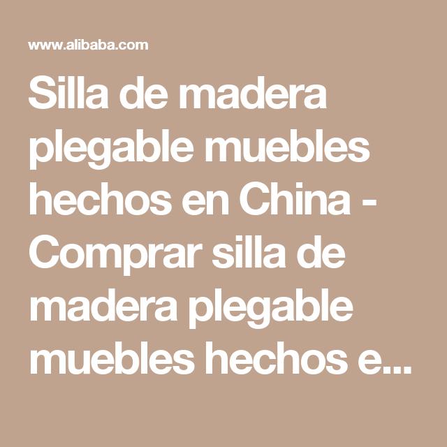 Comprar Muebles Hechos China Silla Madera Plegable De En L5AR4j3
