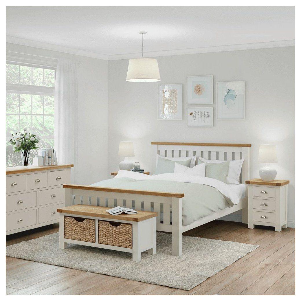 Daymer Cream 12 ft King Bed #oak #and #cream #bedroom #furniture