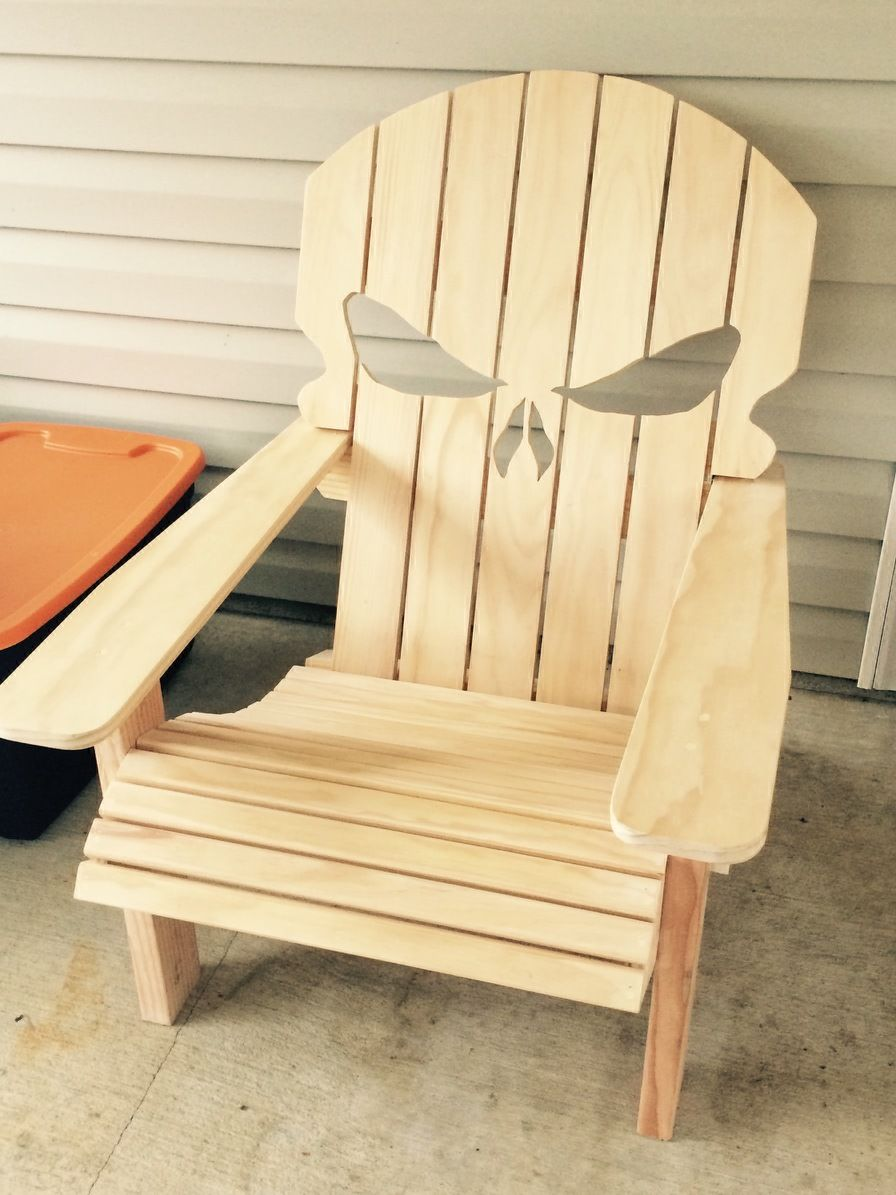 First chair build the punisher adirondack made for my for Adirondack ottoman plans