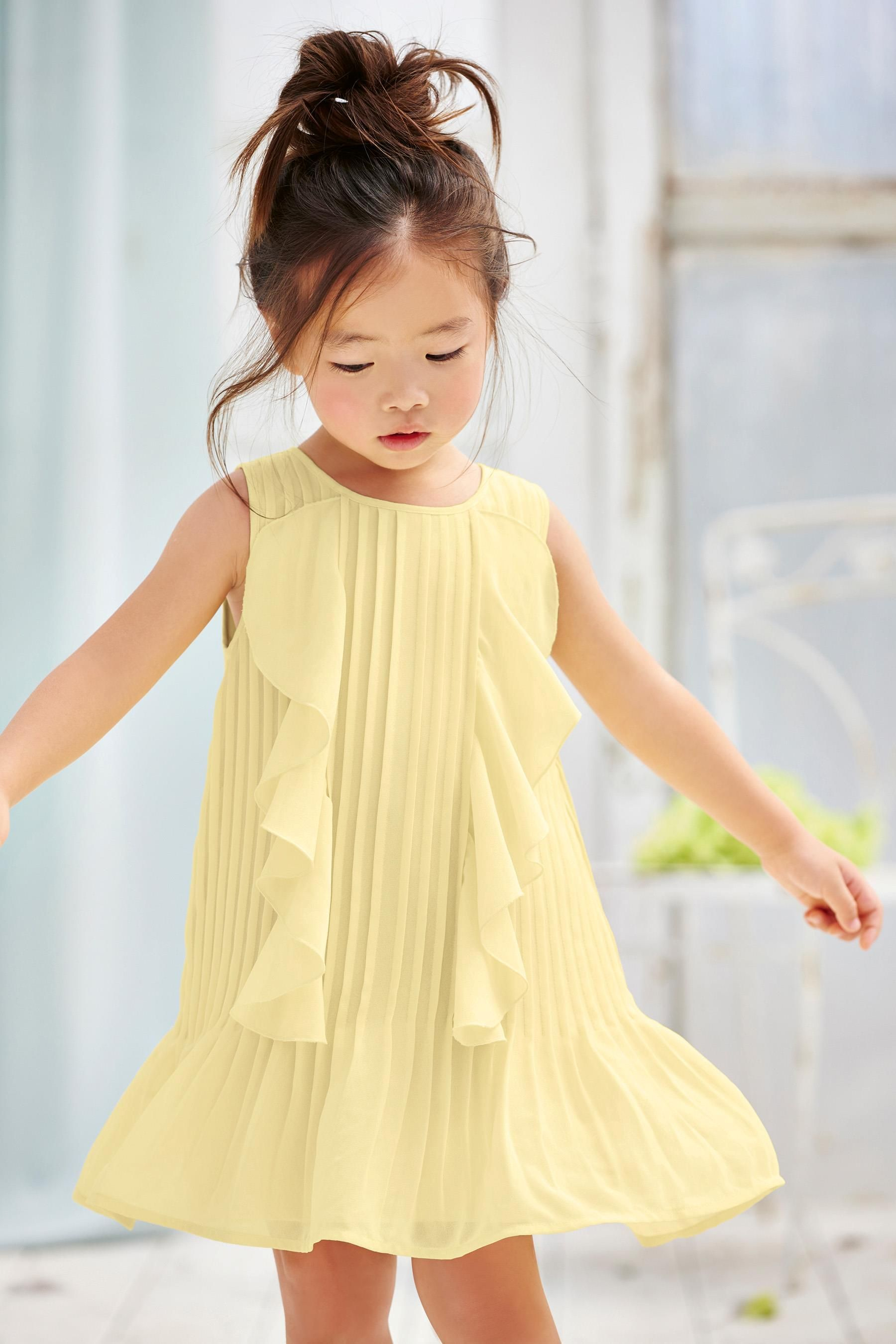 50d0af3b1 Buy Yellow Ruffle Dress (3mths-6yrs) from the Next UK online shop ...